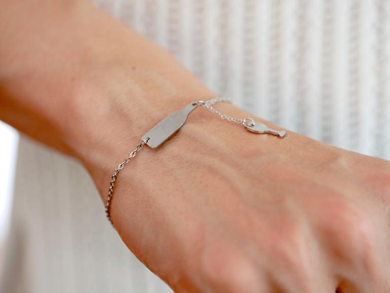 wine bracelet silver 2