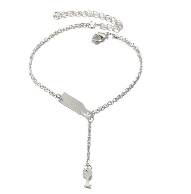 wine bracelet silver